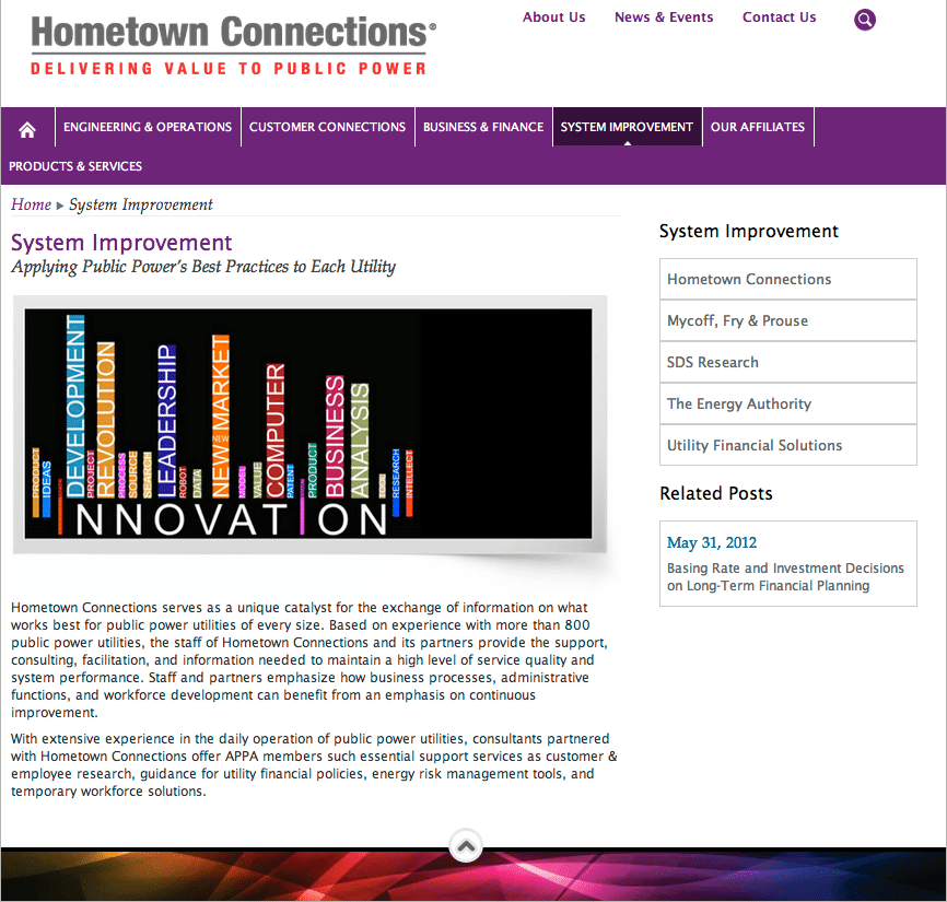Hometown Connections Website