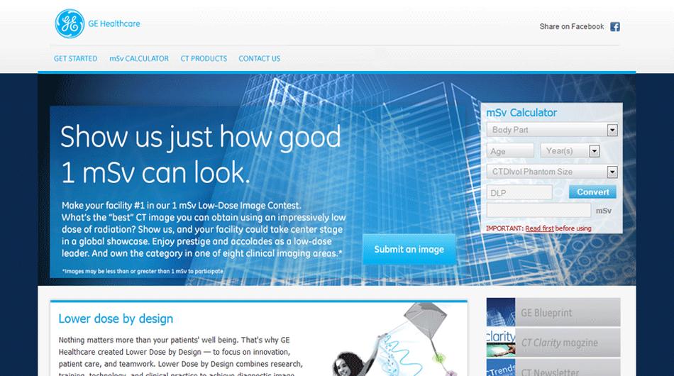 GE Healthcare Website Development