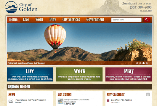 City of Golden Homepage